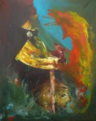 Comme je descendais, acrylique sur toile,100x80cm,2010.jpg